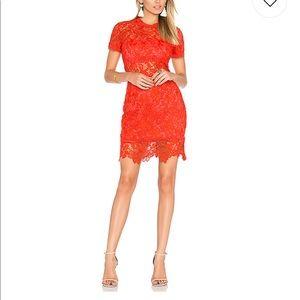 Lovers +friends red dress